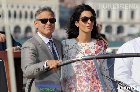 George Clooney et Amal Alamuddin se sont mariés samedi à Venise.