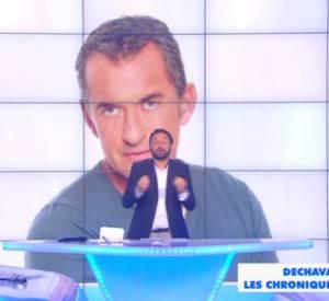 """Cyril Hanouna répond aux critiques de Christohe Dechavanne dans """"Touche pas à mon poste"""" ce lundi 29 septembre 2014 sur D8."""