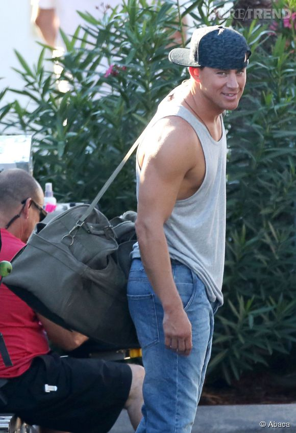 "Channing Tatum alias Magic Mike sur le tournage de ""Magic Mike XXL""."