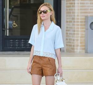 Kate Bosworth, un look jambes nues dans les rues de Beverly Hills qui combine chic et tenue casual.