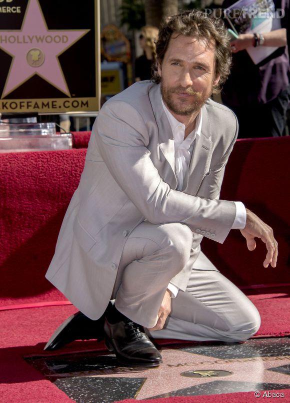 Matthew McConaughey, inaugure son étoile ce lundi 17 novembre 2014.