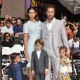 Matthew McConaughey, accompagné de sa femme Camila Alves et de leurs trois enfants, lors de l'inauguration de l'étoile de l'acteur sur le Walk Of Fame à Hollywood, ce lundi 17 novembre 2014.