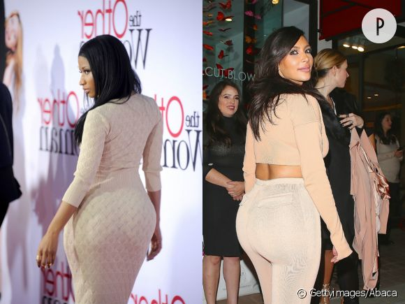 Nicki Minaj vs Kim Kardashian. Quoi qu'il arrive, elles ont toutes les deux, un fessier particulièrement remarquable.