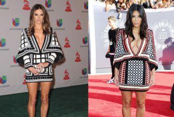 Alessandra Ambrosio vs Kim Kardashian : la robe Balmain au décolleté plongeant