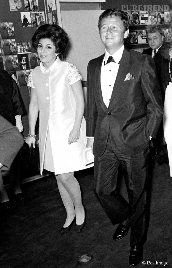 Philippe Bouvard et sa femme, Colette Sauvage, photographiés en 1968 à l'Olympia.