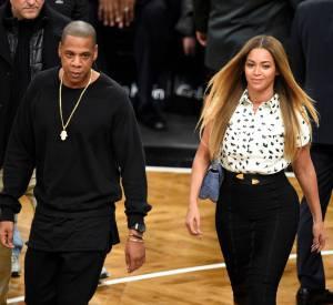 Beyoncé et Jay-Z, le couple royal du Barclays Center.