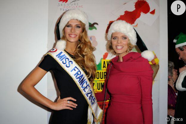Miss France Camille Cerf et Sylvie Tellier, mèred Noël sexy.