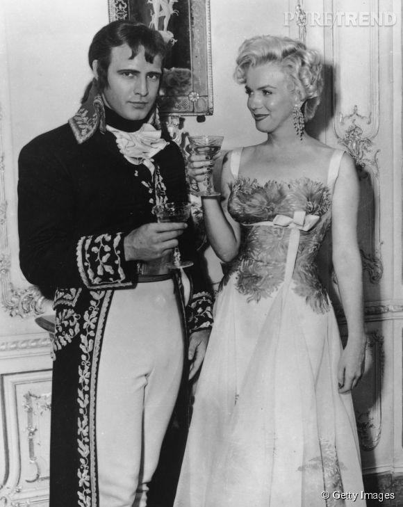 Marlon Brando et Marilyn Monroe, l'une de ses nombreuses conquêtes, en 1954.