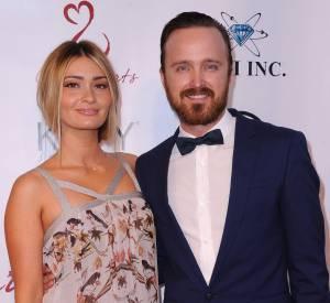 Aaron Paul et sa femme Lauren Parsekian.