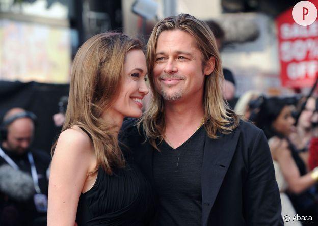 Brad Pitt et ses cheveux longs.