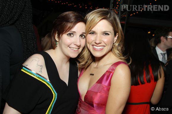 """Lena Dunham et Sophia Bush lors de l'after party de la soirée """"Girls""""."""