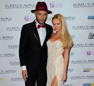 """Lauriers TV Awards : Tatiana et Xavier de """"Secret Story 1"""", couple iconique et audacieux sur le tapis rouge."""