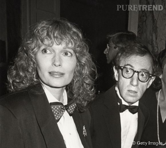 Mia Farrow et Woody Allen.