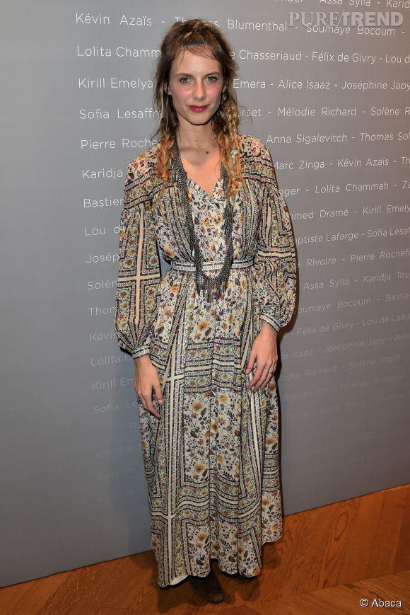 """Mélanie Laurent, bohème chic à la soirée """"Révélations César 2015"""", le 12 janvier 2015."""