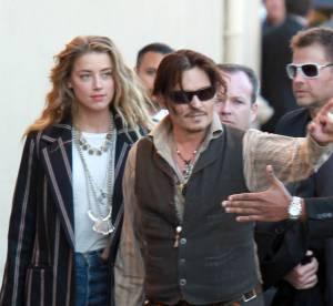 Johnny Depp et Amber Heard main dans la main chez Jimmy Kimmel