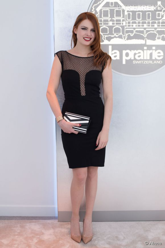 Elodie Frégé à l'ouverture d'une nouvelle boutique La Prairie à Paris le 21 janvier 2015.