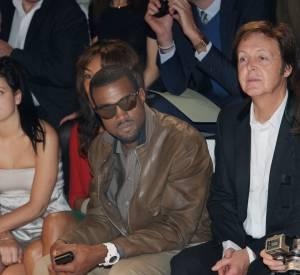 Kanye et Paul McCartney visiblement aussi BFF de front row.