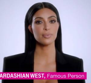 """Kim Kardashian sur le plateau de """"Conan"""" de Conan O'Brien, sur TBS, pour présenter son spot commercial diffusé le soir du Super Bowl."""