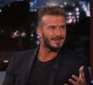 David Beckham sur le plateau de Jimmy Kimmel ce mercredi 27 janvier 2015.