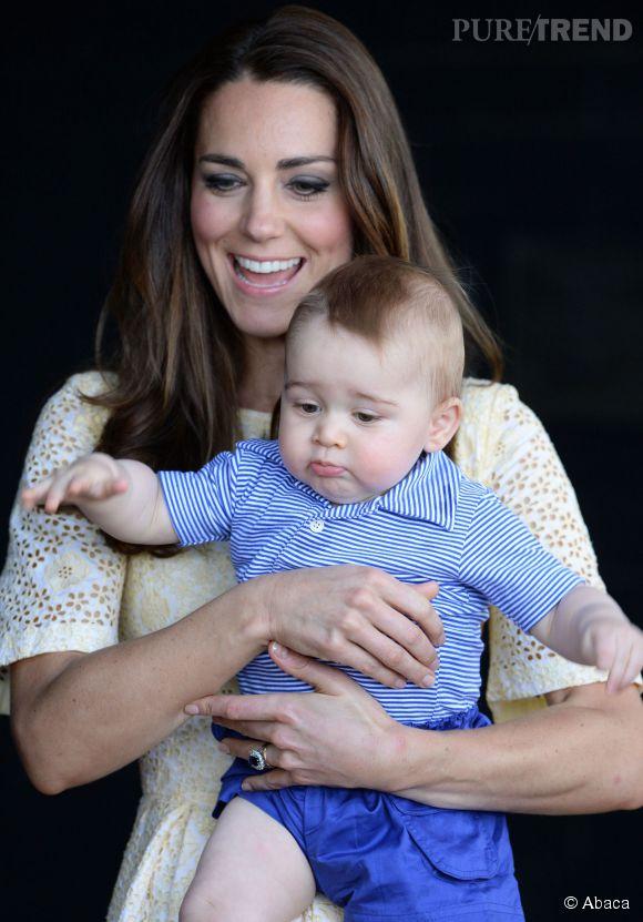 Le prince George en est déjà à son second séjour sur l'Ile Moustique. Pour le troisième, il ne sera plus fils unique !