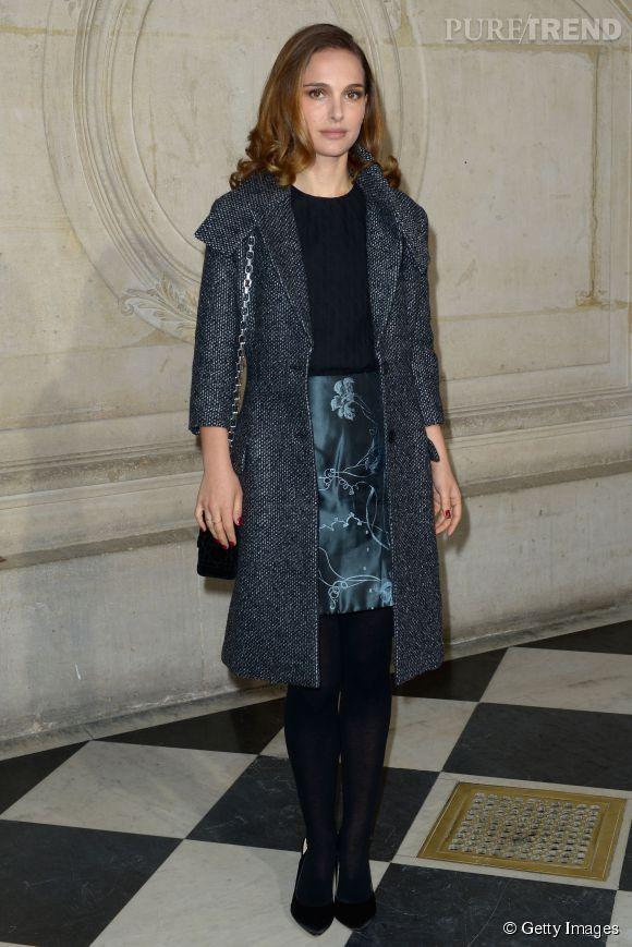 Natalie Portman a joué les égéries modèles au défilé Haute Couture de Dior le lundi 26 février 2015.