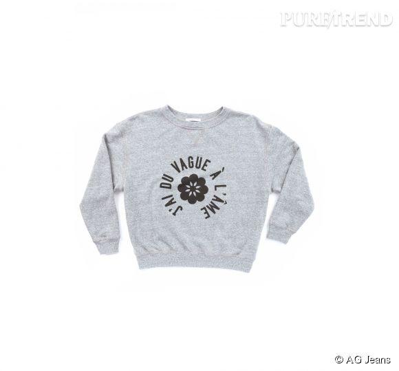 Sweat Alexa Chung pour AG Jeans, 294,35€.