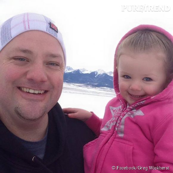 Greg Whickerst et sa fille Izzy, aux anges.
