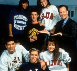 """Les acteurs de """"Sauvés par le gong"""" en 1991."""