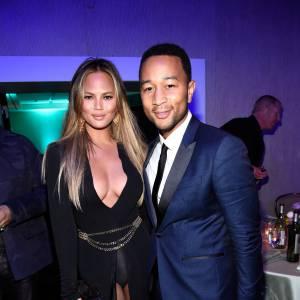 Chrissy Teigen et John Legend lors du gala Pré-Grammy 2015 organisé à Los Angeles le 7 février 2015.