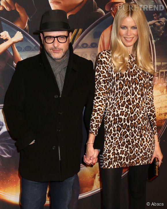 """Claudia Schiffer ne quitte pas son mari d'une semelle. En ce moment, elle le suit partout pour la promotion de son nouveau film, """"Kingsman""""."""