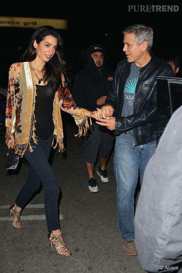 Georges Clooney et sa femme Amal.