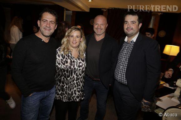 """Michel Sarran avec Hélène Darroze, Philippe Etchebest et Jean-François Piège, le jury 2015 de """"Top Chef""""."""