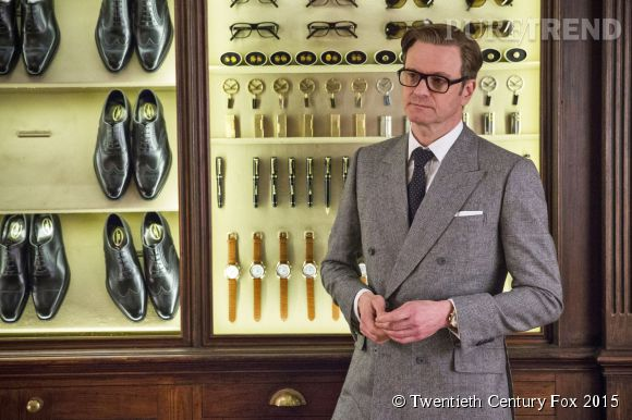 "Colin Firth, ""agentleman"" dans ""Kingsman : services secrets""."