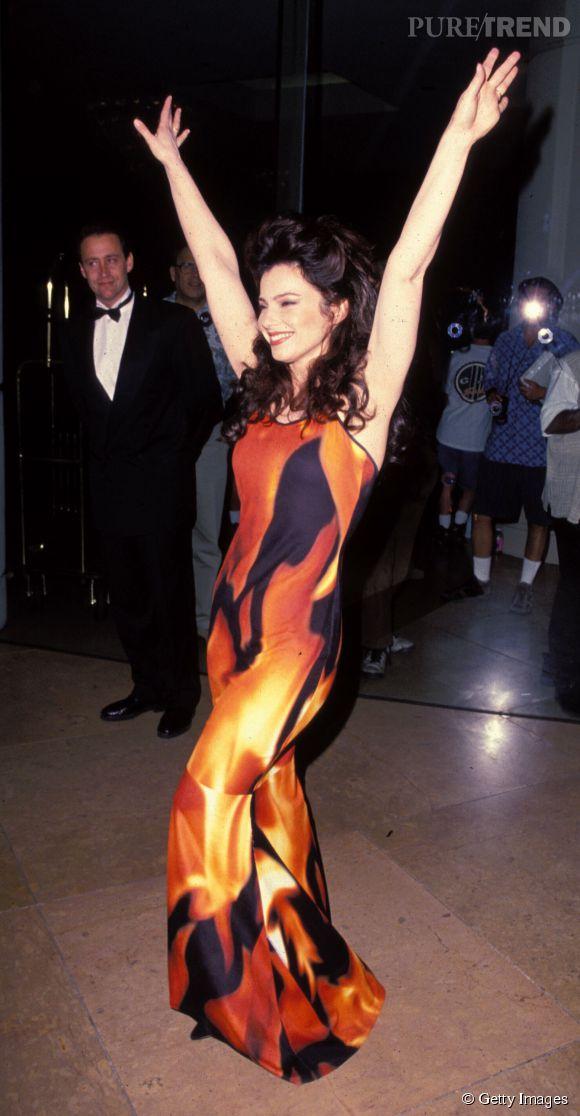 Fran Drescher, en 1994 déjà elle enflammait le non-red carpet.