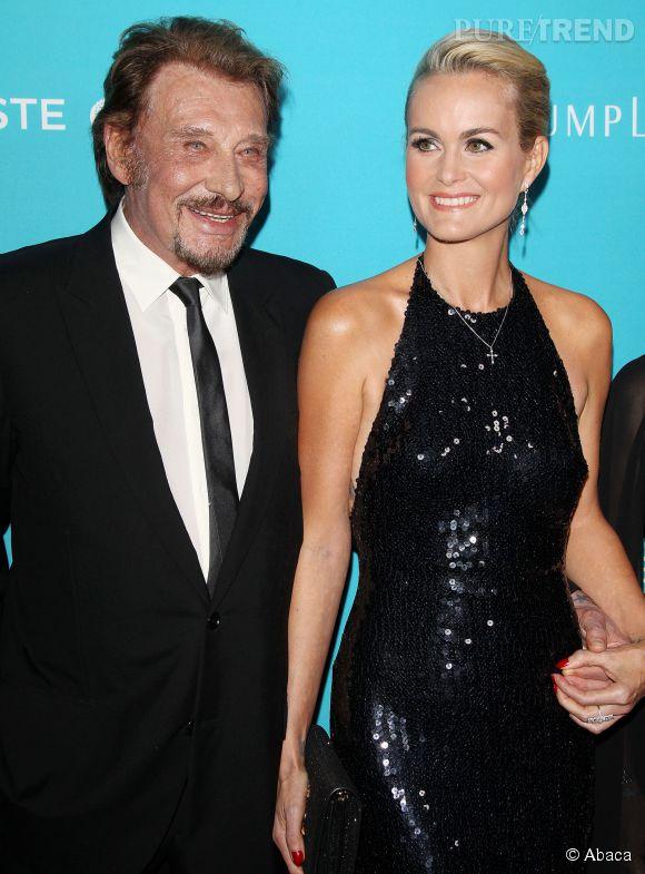 Laeticia Hallyday et Johnny, couple glamour à Hollywood.