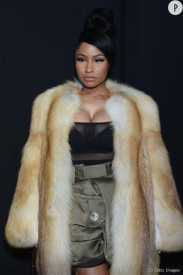 Nicki Minaj très sexy au défilé Marc Jacobs Automne-Hiver 2015/2016 le 19 février 2015 à New York.