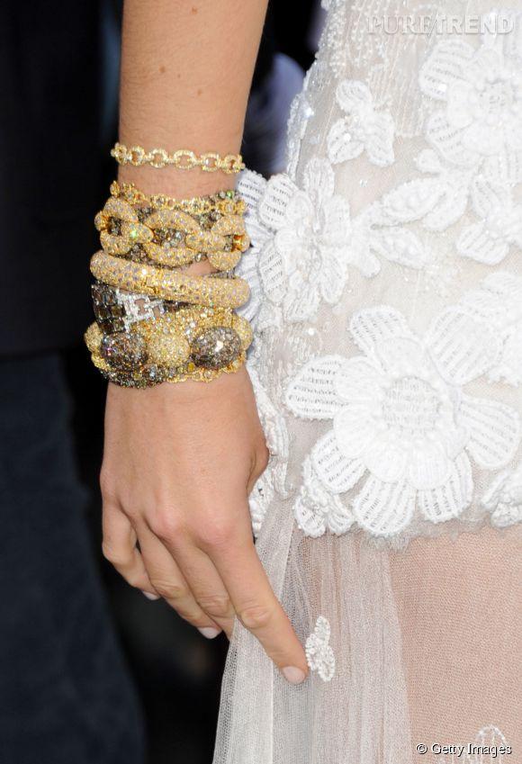 Détail des bracelets Lorraine Schwartz de Blake Lively.