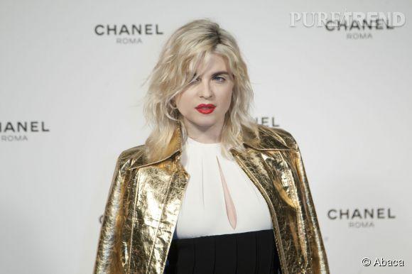Cécile Cassel à Rome pour l'ouverture d'une soirée Chanel le 19 février 2015.