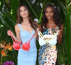 Lily Aldridge et Jasmine Tookes, petites robes sexy chez Victoria's Secret