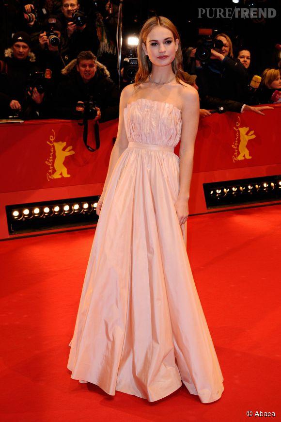 Lily James, la nouvelle étoile montante d'Hollywood.
