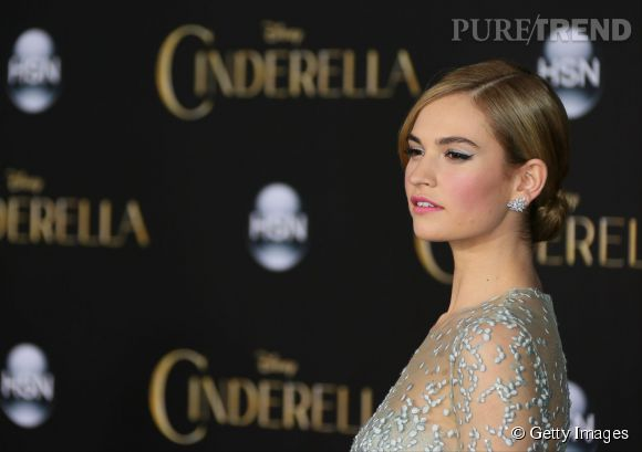 Lily James la Cendrillon 2015.