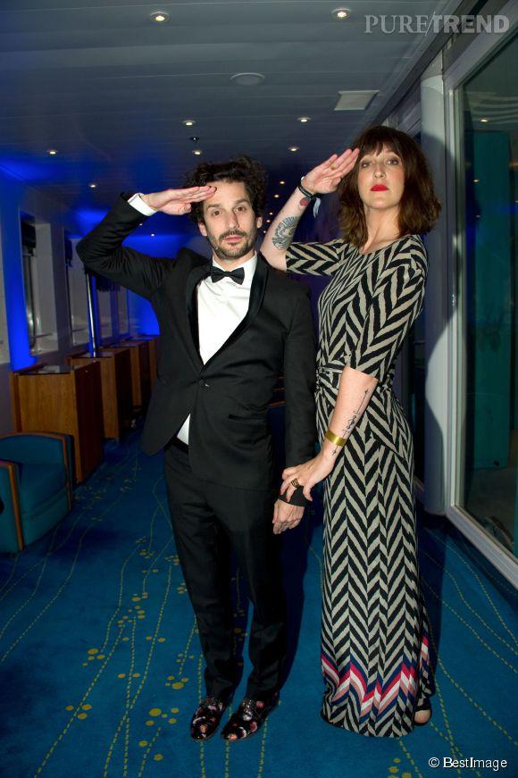Daphné Burki, l'imprimé zigzag parfaitement maîtrisé qui la grandit lors du Festival de Cannes 2014.