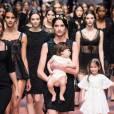 L'enfant star du défilé Dolce & Gabbana Automne-Hiver 2015/2016.