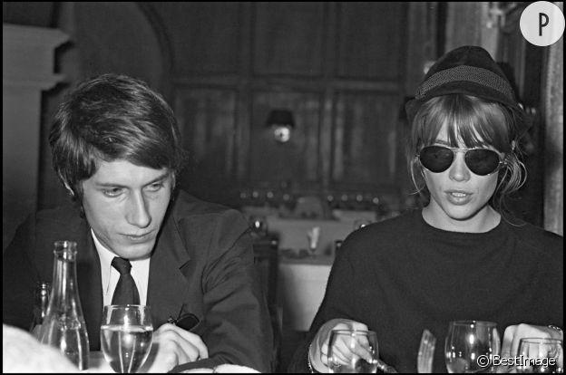 Jacques Dutronc et Françoise Hardy en 1966.