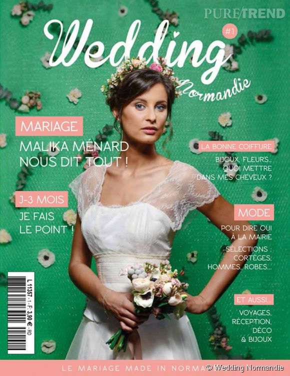 Malika Ménard, mariée romantique et bohème pour le premier numéro de Wedding Normandie.