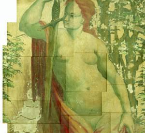 Fresque du château Montecalvello par Katerina Jebb 2014 pour A Magazine curated by Delfina Delettrez SS15.