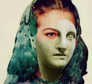 Ava Gardner version statue hellénistique d'Athena par Francesco Vezzoli pour A Magazine curated by Delfina Delettrez SS15.