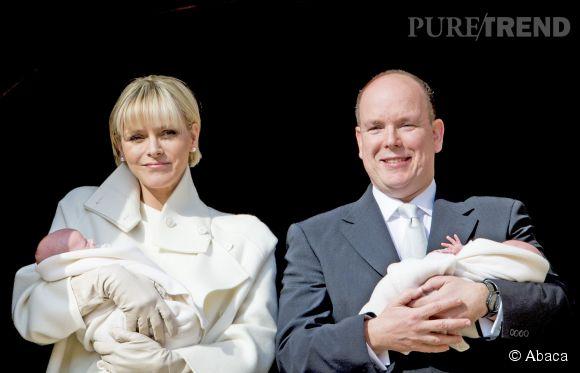 Début janvier, Albert et Charlène ont présenté leurs jumeaux au balcon du palais princier.