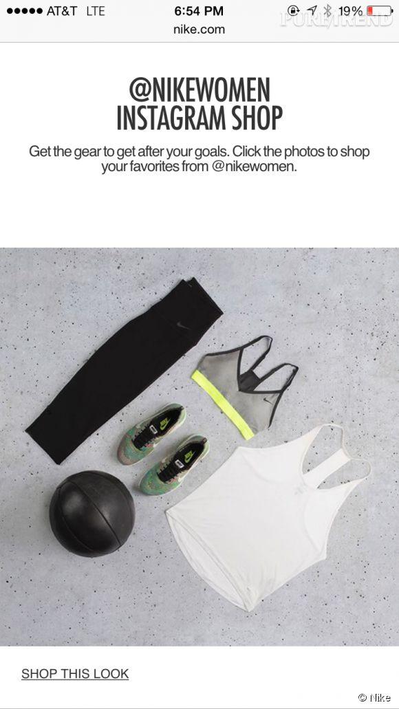 Nike lance une expérience inédite de shopping sur Instagram avec son compte officiel @nikewomen.
