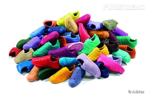 La Superstar d'Adidas prend des couleurs avec Pharrell Williams et sa Supercolor.